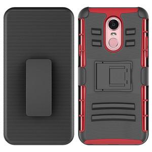 Cas de téléphone pour LG G7 MOTO E5 ZTE Avid 4 Clip Case Béquille Cool Combo Holster Ceinture De Protection Defender Couverture de Téléphone