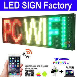 "LED SIGN 39 ""X8""야외 프로그램 RGB 컬러 디스플레이를 열고 메시지 사인 보드"
