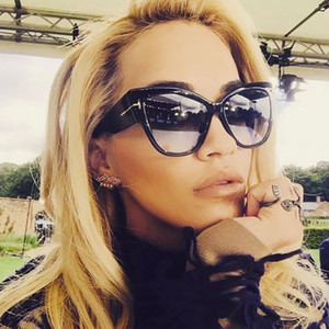 Feminino Óculos de Sol Mulheres Cateye Marca Designer de Luxo Óculos De Sol Oversize Olho de Gato Das Senhoras de Verão TOM Óculos Retro