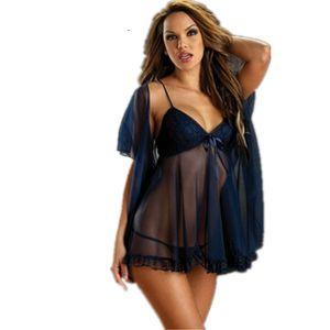 KuperCherry Kadınlar Sexy Lingerie M-6XL Artı boyutu Babydolls Fetiş Şeffaf pijamalar G string Kimono Sıcak Erotik Kostümler Wear