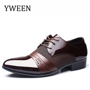 YWEEN New Men's Dress Shoes Men Business Flat Shoes Free Shipping Breathable Men Formal Office Shoes Plus Size 38-47