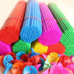Hohe Qualität Kunststoff Haltestange Latex Ballon Cup Sticks Halter Werbung Ballons New Material Festival Liefert 0 08hy ii