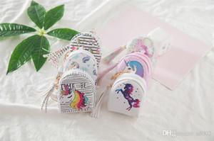 Veri Hattı Saklama Çantası Sevimli Sikke çanta Unicorn Çocuklar Karikatür Anahtar Kutu Baskı Püsküller Pu Deri Kadınlar 4 5 ...