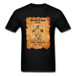 Retro Tshirt Deadpool Wanted Poster Mens Tee-Shirt Funny Design Slim Fit Vintage Tshirt 3D Printing Leisure T Shirt Mens