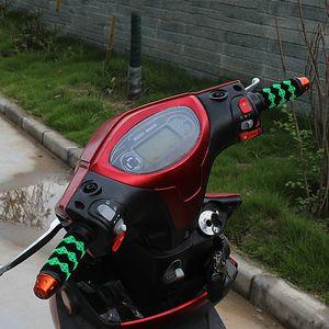 Manija modificada bicicleta eléctrica de 10PCS de la motocicleta, sistemas antideslizantes de la manija del cuero, sistemas de la manija de goma