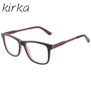 Kirka Acetate Spectacle Frame Eyeglasses Stylish Color Men Computer Optical Frames For Male Armacao Oculos de