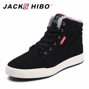 JACKSHIBO высокое качество снегоступы зимняя обувь Мужская обувь добавить мех теплые ботильоны зимние кроссовки для мужчин Botas Hombre
