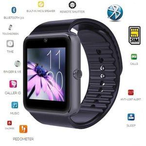 Yeni GT08 Bluetooth Akıllı İzle Saat Destek SIM Kart iPhone Android Samsung ANDROID Sistemi açıklamasındaki tüm fonksiyonları destekleyebilir