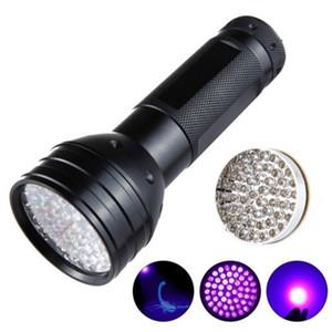 51 LED UV Torch Lanterna Ultravioleta 395nm Luz Roxa Lanterna de Alumínio Preto Falsa Detectada Pet Urina Stain Detector Lâmpada