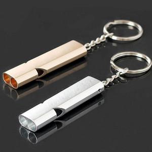 حار بيع 1 قطع صافرة المفاتيح بقاء صافرة مزدوجة أنابيب عالية ديسيبل الطوارئ صافرة سلاسل المفاتيح