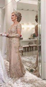 2019 mère de la mariée robes une ligne pure manches longues formelle marraine soirée soirée de mariage invités robe plus la taille sur mesure