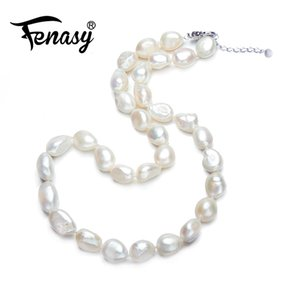 FENASY Bohemian charm Baroque Pearl Necklace For Everyday Trendy 2016 New Bijouterie Fine Jewelry Pearl Jewelry Choker NecklaceY1882701
