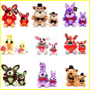 Peluş oyuncaklar 15cm 25cm Freddy FNAF Bebekler Doldurulmuş Oyuncaklar Altın Freddy fazbear Mengeneden Foxy ayı Bonnie Deki Gece doldurulmuş hayvanlar çocuklar oyuncakları