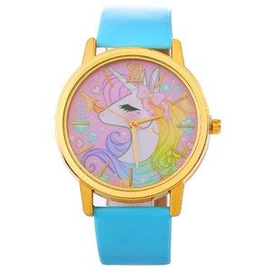 Güzel Karikatür unicorn roma izle çocuk hediye saatler moda kadınlar bayanlar öğrenci gündelik elbise kuvars bilek saatler