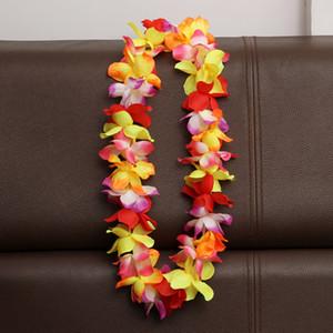 Бесплатная доставка Гавайские Леи Шелковый цветок партии пользу Леи искусственные гирлянды венок черлидинг ожерелье украшения lin4191