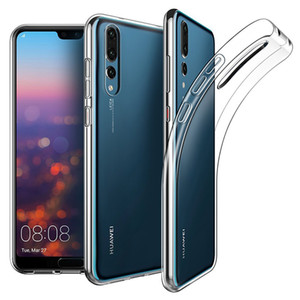 Housse de protection transparente en caoutchouc de silicone TPU ultra mince pour Huawei P30 Pro P20 Lite Mate 30 20 X 10 Nova 5i Y9 Y6 P Intelligent