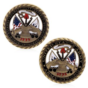 Spedizione gratuita 20pcs / lot, US Army challenge coin 1775 Army Strong United States Patriotism