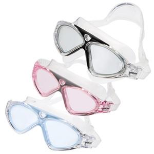 Gafas de natación Profesional edad Mujeres gafas de natación gafas de protección anti-niebla ajustable Negro / azul claro
