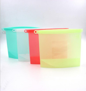 قابلة لإعادة الاستخدام سيليكون الحفاظ على حقيبة الغذاء محكم ختم الغذاء تخزين الحاويات تنوعا حساء عصير عصير حقيبة 1000ML