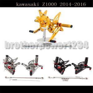 Motorrad CNC Einstellbare Fahrer Hinten Sets Rearset Fußstütze Fußstütze Pegs Für Kawasaki Z1000 2014-16