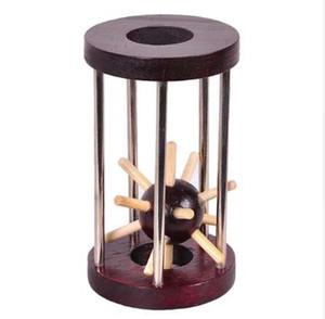 رباعي الألغاز خشبية قفل منطق لغز لدغ الألغاز المخ دعابة إزالة الفكرية تجميع لعبة