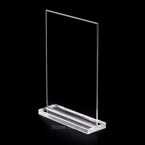 Acrílico Vertical Titular Imagem T-Strip Plexiglass Galeria de Fotos Art Decoração de Mesa