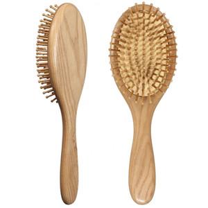 Pettine di legno naturale Spazzola per capelli in legno Massaggio termale Massaggio Pettine antistatico Pettine 1pcs Strumenti di bellezza per le cure personali