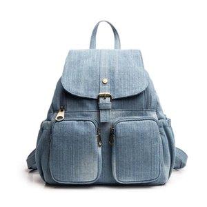 Meloke 2018 nova denim sacos de viagem para meninas estilo Colegial mochilas tamanho grande mãe sacos de transporte da gota MN1261