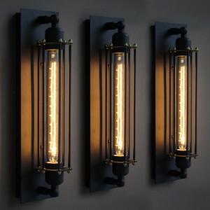 Loft Lámparas de pared vintage Luz de pared industrial americana Edison T30 E27 Bed-lighting Lámpara de pared Lámparas de pared Iluminación para la decoración del hogar