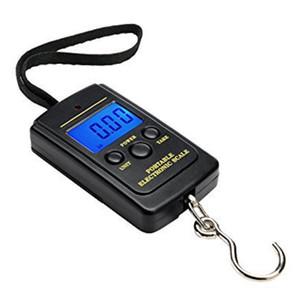 40 kg Digital Bagagem Handy Balanças 88 Lb 1410 oz Display LCD Pendurado Escala de Peso de Pesca Frete Grátis wen6753