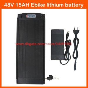 Kuyruk ışık 20A BMS 54.6V 2A şarj Ücretsiz gönderim 750W 48V 15Ah elektrikli bisiklet bisiklet arka raf pil 48V lityum bateria