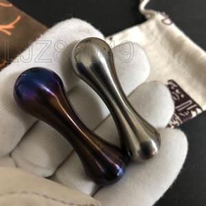 Begleri المحمولة edc الصلبة التيتانيوم tc4 متعدد الألوان اليدوية خبز الأزرق بفك اللعب الجيب knucklebone بدوره العظام إصبع الوجه
