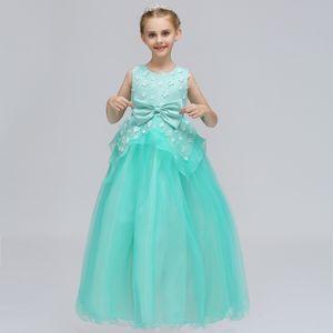 2019 pas cher Royal Blue Flower Girls Robes Toddler Enfants Flower Girl Dress Pour les mariages Appliques Filles Pageant Prom robes