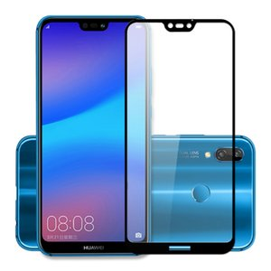 2.5D 9H Hardness Tempered Glass Full Screen Protector Cover for Huawei P20 Lite 100% New 0.26mm Tempered Glass Huawei P20 Pro