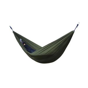2 Pessoas Portátil Parachute Hammock Survival Camping Hammocks Jardim Lazer Viagens Duplo pendurado Balanço 270 cm x 140 cm
