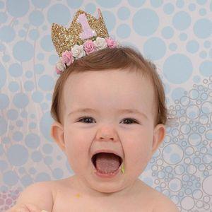 primo compleanno corona 1 ° Compleanno Corona torta Smash One Party Glitter Party Fascia One Outfit
