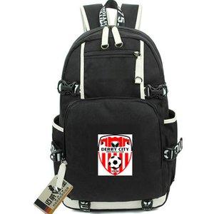 Derry City Rucksack Candy Stripes Daypack Football Club المدرسية Soccer Knapsack جودة حقيبة الرياضة مدرسة حقيبة خارج الباب حزمة