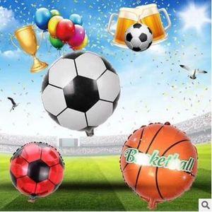 Dünya kupası için futbol Basketbol Folyo Balonlar şişme helyum balon Çocuk Oyuncakları doğum günü Partisi Dekorasyon hava balon I219
