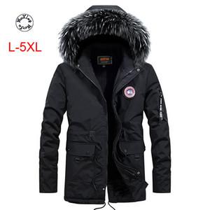 inverno dos homens Woxingwosu Outono sportswear com capuz, casaco de algodão casual, colar de cabelo, tamanho L para 5XL