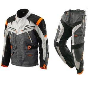 2018 Defender KTM için Motokros Ralli Suits Su geçirmez Windproof Yarışı Binme Ceket + Motosiklet Pantolon MX Binme Giyim