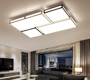 techo de acrílico hierro LED se ilumina moderna casa lámpara de salón accesorios creativos techo Lámparas de techo dormitorio rectángulo iluminación LLFA