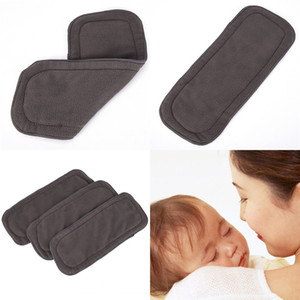 Baby Diapers Washable 4 Layers Cotton Cloth Charcoal Bamboo Diaper Insert Retail 0-1 Years Old Boy Girls Reusable Top Quality