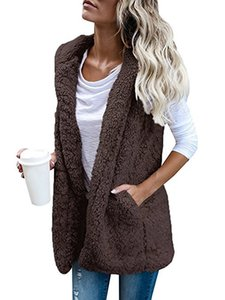 Women's vest sleeveless cashmere vest solid color casual warm hooded cardigan 2020 new warm cloak coat 5 color S M L XL