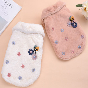Dog clothing shirts Pet Clothes Elegant Luxury Fur Winter Overcoat Small Dog Cat Apparel Bowknot Chihuahua for Sale S-2XL Jacket Casual Sty