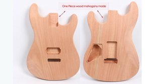 Strat Electric guitar body One-piece Mahogany Made Unfinished Electric Guitar Replacement DIY guitar