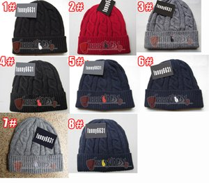 10pcs inverno uomo di design di marca Cool moda cappelli donna maglia cappello Unisex cappello caldo cappello classico di marca cappello lavorato a maglia 8 colori spedizione gratuita