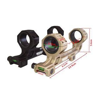 FIRECLUB 25 / 30mm Evrensel Optik Kapsam Dağı 20mm Picatinny Rail Için Seviye Enstrüman ile