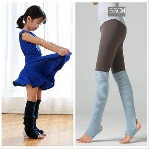 Громоздкая бедро высокий Пируэт нога теплее для женщин удлиненные носки загрузки над коленом кабель вязать йога танцевальные носки девушки 10 цветов