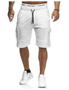 Mens Casual Rayé Genou Longueur Sport Pantalon Pantalon Taille Élastique Solide Pantalon De Survêtement Mâle Respirant Vêtements