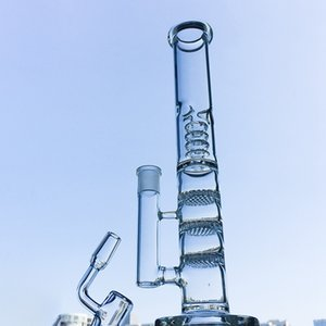 2020 Triple Percolators Ice Pinch Glass Bong Oil Dab Rigs Water Pipes 18mm Female Joint With Bowl And Ash Catcher